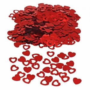 Konfetti Red Hearts