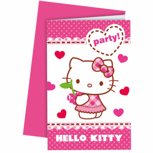Hello Kitty - Inbjudningskort