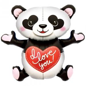 Stor I Love You Panda Folieballong