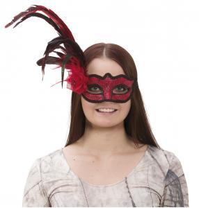 Ögonmask Venetian Flower Red