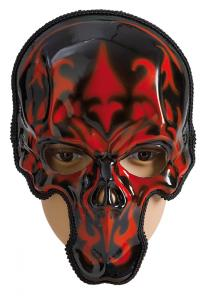 Mask Whole Skull Red/Black