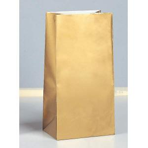 Party Bags - Guldmetallic - 10p