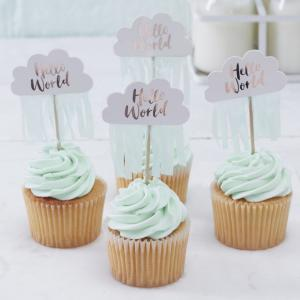Cupcake Toppers - Hello World