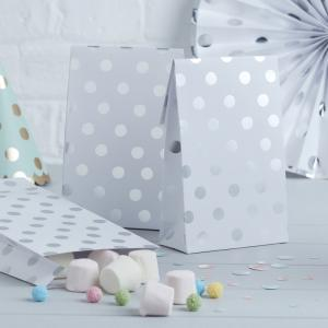 Party Bags - Silver Dots