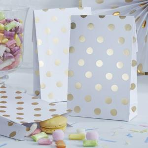 Party Bags - Golden Dots