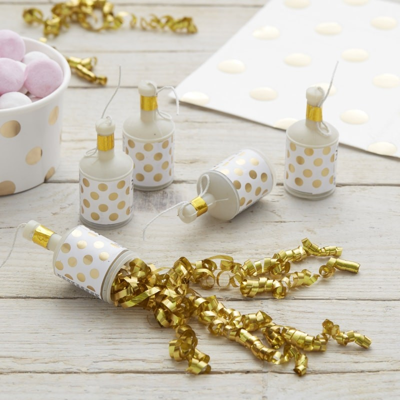 Party Poppers - Golden Dots