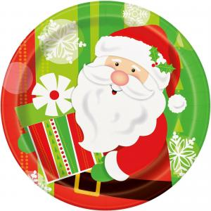 Tallrikar - Happy Santa