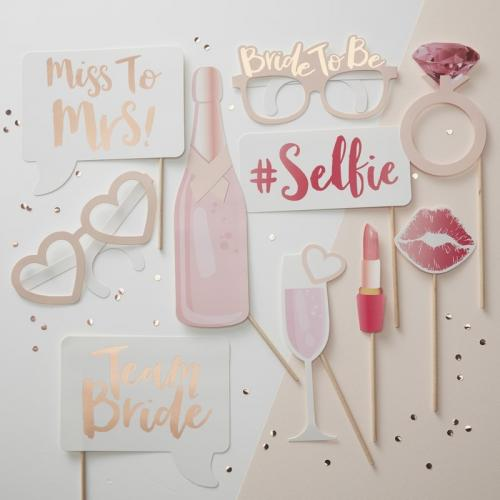 Photo Booth Props - Team Bride