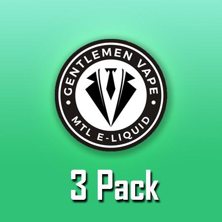 Gentlemen Vape (10ml, Shortfill, MTL, 3pack)