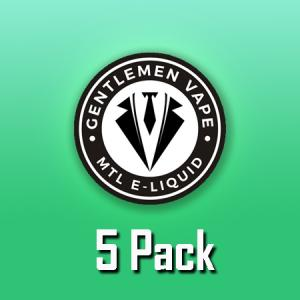 Gentlemen Vape (10ml, Shortfill, MTL) 5pack
