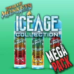 12 Monkeys Ice Age (50ml, Shortfill) 6pack - Mega Pack