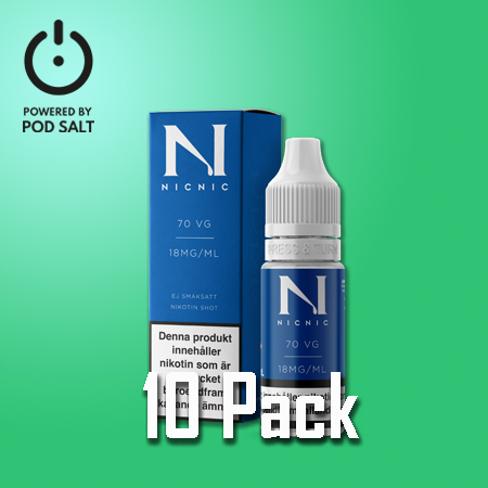 Nic Nic - Nikotinshot - VG70/PG30 - 10pack/display