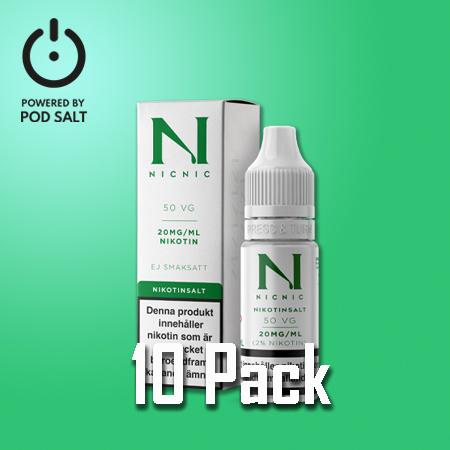 Nic Nic - SALT Nikotinshot - VG50/PG50 - 10pack/display
