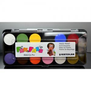 Ansiktsmålning - Fun Faze palett - 12-färger