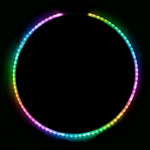 LED Hula Hoop, hopfällbar - Echo Glow Flow - 76 LED Remote Control Glow Hula Hoop - 85 cm