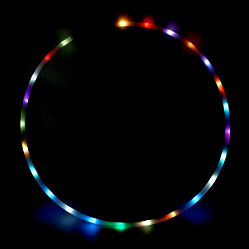 LED Hula Hoop - hopfällbar, Echo Play - 24 LED  - 90 cm
