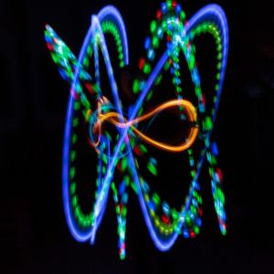 LED Poi Ultrapoi Helix Poi Set - Superbright LED Stick Poi - Helix Handles (with Ultralight V2)