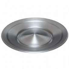 Snurrande tallrik aluminium med pinne - Jac Products