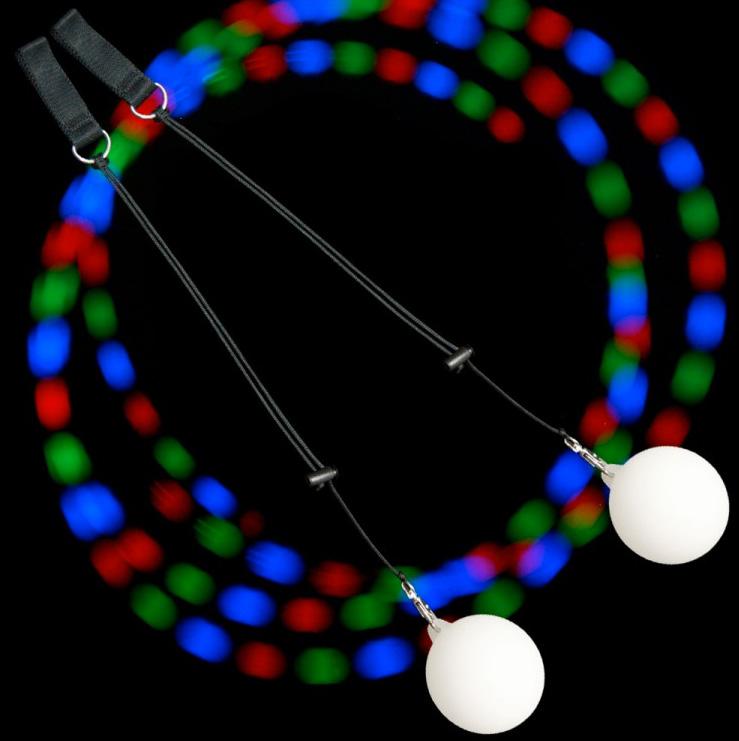 LED Poi flerfärg Strobe/Slow Fade - Firetoys