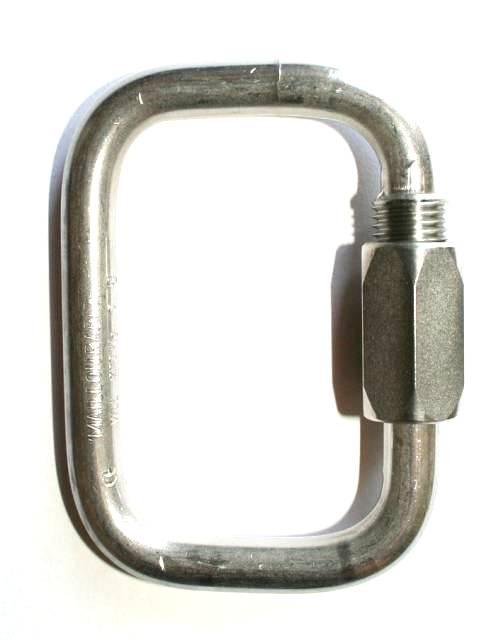 Peguet - Rostfri stålkarbin för nödskärm 6mm