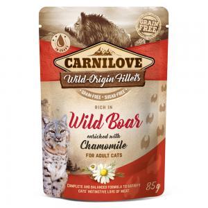Carnilove CAT Pouch Wild Boar Chamomile 85g