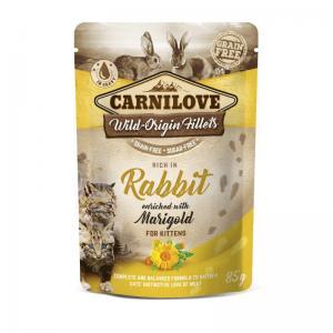 Carnilove CAT Pouch Kitten Rabbit Marigold 85g