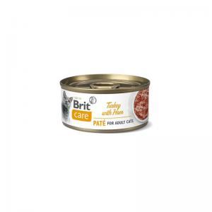 Brit Care Cat Cans Turkey Paté with Ham 70g