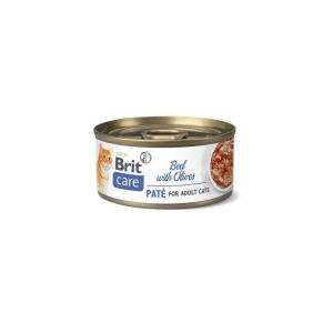 Brit Care Cat Cans Beef Paté with Olives 70g