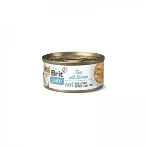 Brit Care Cat Cans for Sterilised Tuna Paté&Shrimps 70g