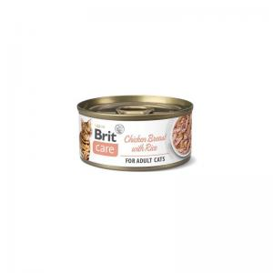 Brit Care Cat Cans Chicken Breast with Rice 70g