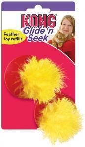 Kattleksak KONG Glide N seek Feather Refill 2pack