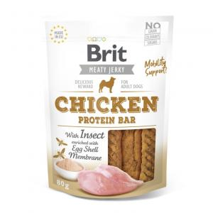 Brit Jerky Snack Chicken&Insect Protein Bar 80g
