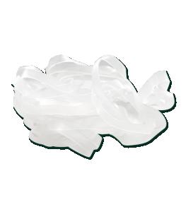 Gummisnoddar extra breda | 30gr | Transparenta |