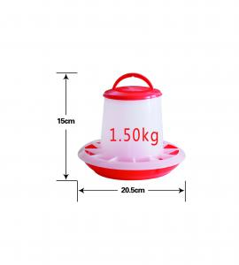 Foderautomat röd/vit | 1,5kg |