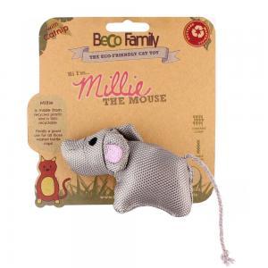 Kattleksak BECO Millie The Mouse Catnip