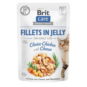 Brit Care Cat Pouch Fillets in Jelly with Chicken&Cheese 85g