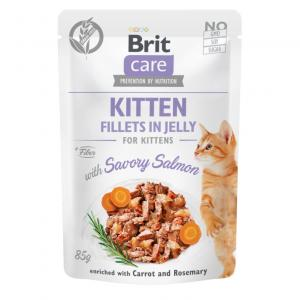 Brit Care Cat Pouch Fillets in Jelly with Salmon for Kitten 85g