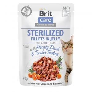 Brit Care Cat Pouch Fillets in Jelly with Duck&Turkey for Sterilized 85g
