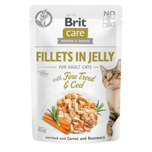 Brit Care Cat Pouch Fillets in Jelly with Trout&Cod 85g