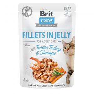 Brit Care Cat Pouch Fillets in Jelly with Turkey&Shrimps 85g