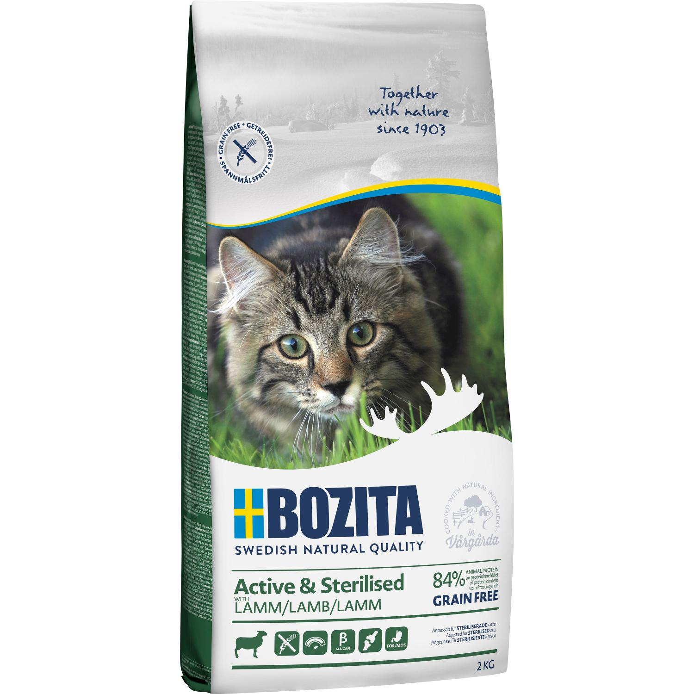 Bozita Katt Active & Sterilised Grain Free Lamm 2kg