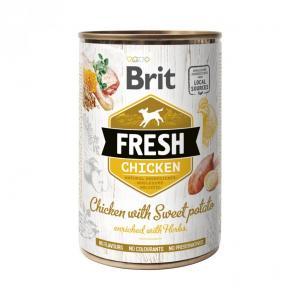 Brit Fresh Cans Chicken With Sweet Potato 400g