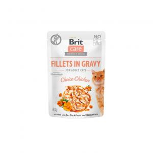 Brit Care Cat Pouch Fillets in Gravy with Chicken 85g