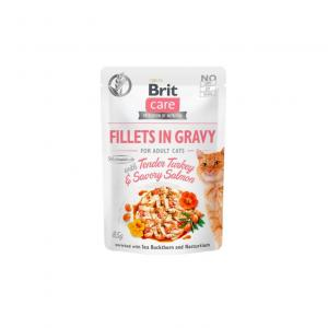Brit Care Cat Pouch Fillets in Gravy with Turkey&Salmon