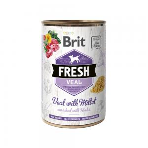 Brit Fresh Cans Veal With Millet 400g