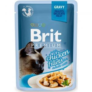 Brit Premium Pouches Gravy Chicken 85g8595602518531