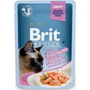 Brit Premium Pouches Gravy Salmon 85g