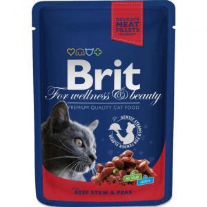 Brit Premium Portionspåse Biff/Ärtor 100g