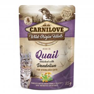 Carnilove CAT Pouch Quail Dandelion Sterilised 85g