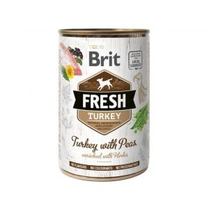 Brit Fresh Cans Turkey With Peas 400g
